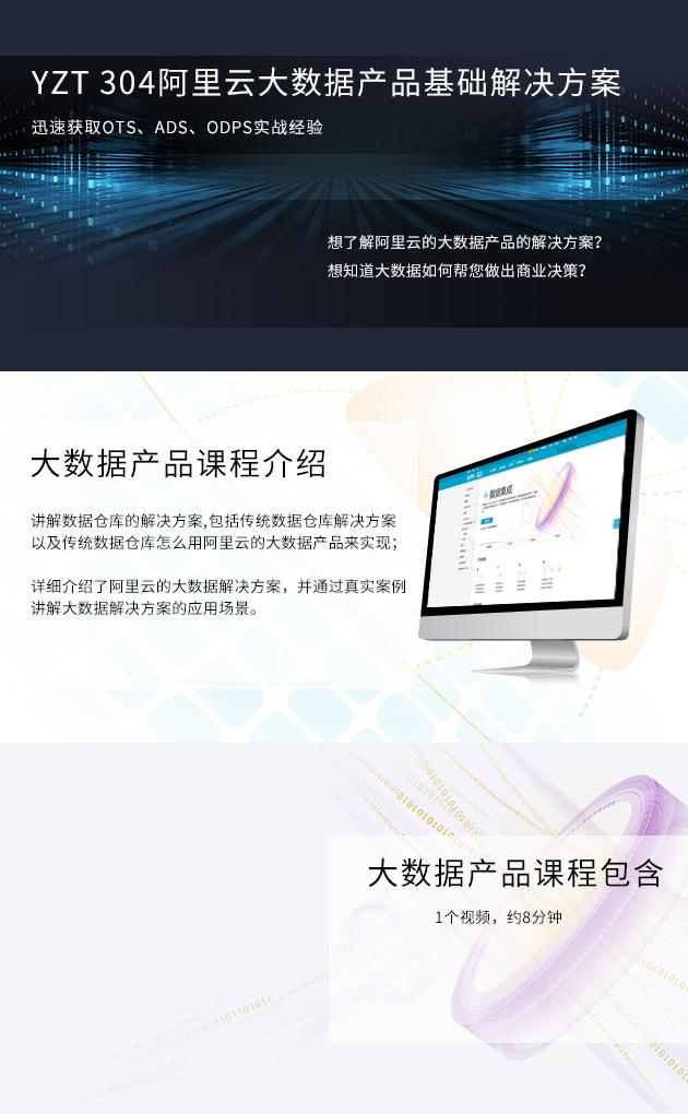 阿里云大数据产品基础解决方案